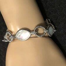 LAGOS Caviar Sterling Silver Mother of Pearl Link Venus Bracelet MOP