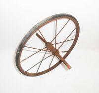 Vintage Speichenrad Wagenrad Metall Gummi Loft Deko Shabby Ø 29 cm !