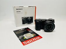Sony Alpha a6100 24.2MP Mirrorless Camera - Black (with 16-50mm Lens Kit)