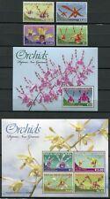 Papua Neuguinea 2010 Orchideen Orchids Blumen Flowers 1591-94 Block 119-120 MNH