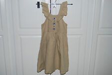Gymboree Girls Linen jeweled dress Size 6 Summer EUC Worn 1X