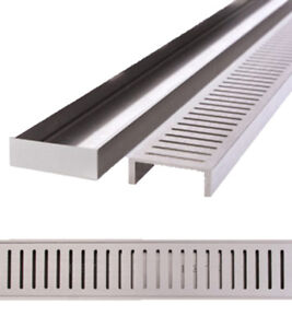 LAUXES 'Celleni' Floor Waste / Grates - 70mm (sold in 1 metre lengths) - tilers
