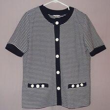 Shirt with matching Jacket Striped  Size Small  Women  Blue White