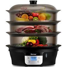 3 Tier 20qt Healthy Cooker Electric Food Steamer Digital Pot Stackable Baskets