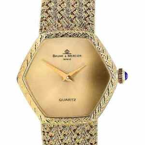 Rare Baume Mercier Hexagon 18K Solid Gold Quartz Watch - Excellent Condition