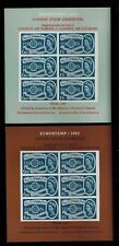 2 MINIATURE SHEETS 1962 stamp exhibition LONDON EUROSTAMP COUNCIL EUROPA