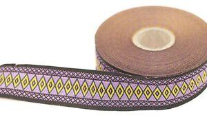 10 meter 28 mm Luxury Diamond Jacquard ribbon (1.10 inches), Diamond ribbon,