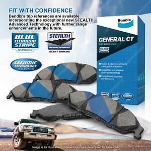 4pcs Bendix Front General CT Brake Pads for Ford KA TA TB 1.3 44 kW FWD