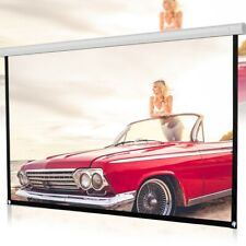120'' HD Projector Screen 16:9 Home Cinema Theater Projection Portable Screen US
