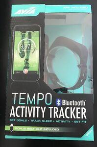 New Avia Tempo Bluetooth Activity Tracker Black (W/ Bonus Belt Clip) AV-CF2002B