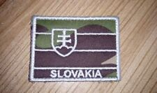 SLOVAK ARMY MILITARY FLAG FOREST CAMO VELCRO PATCH