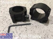 2 x Tactics Low Profile 30mm Scope Rings Picatinny Rail Vortex Leupold     Sa#48