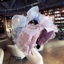 Women Korean Princess Hairband Lace Headband Wide Hair Hoops Hair Accessories