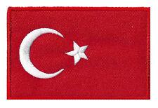 Turquie patche écusson patch drapeau turc flag 85 x 55 mm thermocollant