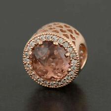 Genuine Rose Gold PANDORA RADIANT PINK Charm Pendant 781725NBP ALE MET