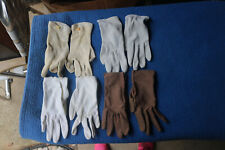 Lot of 4 - Pairs Vintage Assorted Women's Gloves Various Colors