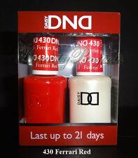 DND Daisy Soak Off Gel Polish Ferrari Red 430 full size 15ml LED/UV gel duo