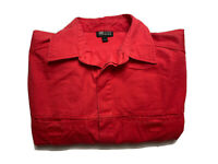 Jag Jeans Mens Shirt Long Sleeve Button Up Red Size S