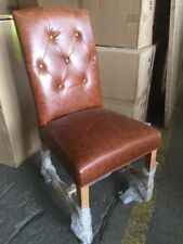 Timber Leather Chairs