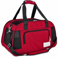 Good2Go Ultimate Pet Carrier in Size Large Colors Red & Black