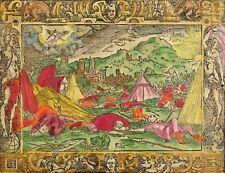 Monogrammist MT-frasques ange dans prophétique sanheribs-Kolor. Gravure sur bois 1560