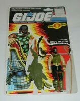 Lot 1987 GI Joe Cobra Reptile Trainer Croc Master v1 Figure w/ File Card Back