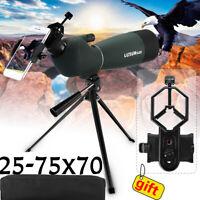 🔥 25-75X70 Zoom BAK4 Monocular Telescope Spotting Scope Waterproof Night Vision
