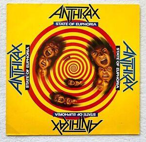 ANTHRAX . state of euphoria LP 1.Press 1988 IMPORT Metallica Slayer SOD Megadeth