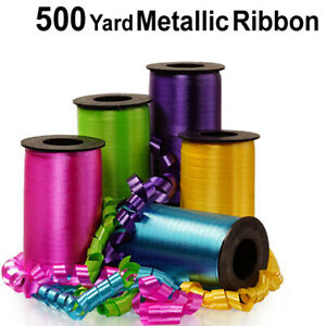 BALLOON METALLIC CURLING RIBBON Party Florist Gift Wrapping 500 yard