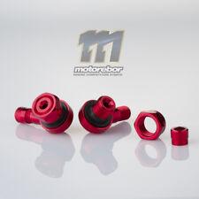 Red 11.3mm CNC Aluminium 90 Degree Motorcycle Car Wheel Rim Tyre Valve Stems