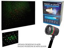 Proiettore faro laser luci di natale natalizie 4 effetti addobbo natalizio ester