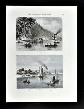 1872 Picturesque America Print - Neversink River Highlands - Fairhaven New York