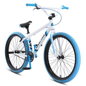 "2021 SE Bike Blocks Flyer 26"" White, blue BMX bike brand new in Factory Box."