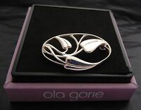 Scottish Ola Gorie 925 Sterling Silver Arts and Crafts Cecily Brooch