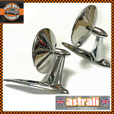 Pair American Style Astrali Classic Longbase Door Wing Mirrors HOT ROD / KIT CAR