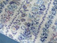 Pale BLUE vintage country floral 100% COTTON fabric craft bunting dressmaking