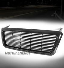 04-08 FORD F-150 PICKUP HORIZONTAL SPORT FRONT UPPER MAIN GRILLE ABS GLOSS BLACK