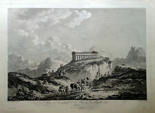 Segesta - Sicilia - acquaforte - Saint Non - 1781