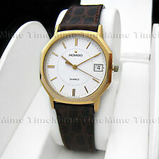 Men's Movado MUSEUM CLASSIC Octo White Dial Octagon Date Gold Swiss Quartz Watch