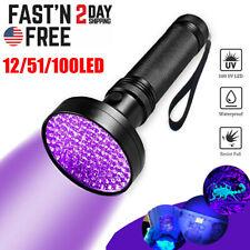 51/100 LED UV Blacklight Flashlight Lamp Light Torch Inspection Light Outdoor US