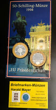 Österreich 50 Schilling 1998 EU-Präsidents. Bimetall HgH Blister--Eiamaya