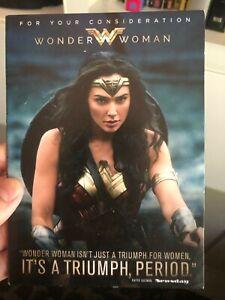 WONDER WOMAN Rare FYC Awards DVD 2017, Patty Jenkins, Gal Gadot
