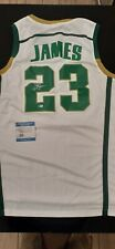 LeBron James Autographed Jersey- Irish High School- Mint Condition COA