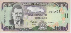 Jamaica Banknote P84f 100 Dollars 15.01.2011, UNC