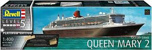 Revell 05199   1:400 Scale Model kit   Queen Mary 2      Platinum Edition