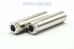 2 X Aluminium 12x40mm 5.6mm Laser Diode Housing Host Case w Collimating Lens