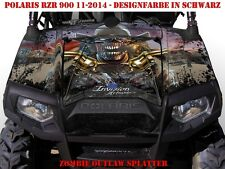 Invision DECORO GRAPHIC KIT ATV POLARIS RZR 570/800/900 Zombie Outlaw splatter B