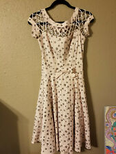 tatyana dress 50s pink grey polka dots size small