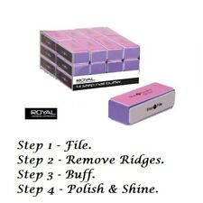 2 X Royal 4 Step Nail Buffer Manicure Sanding Block: File, Buff, Polish & Shine