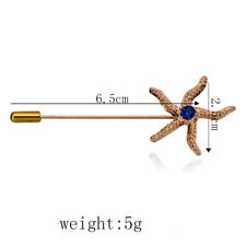 Brooch Pin Lapel Pin Long Needle Plug Starfish Corsage for Suit Dress Decor